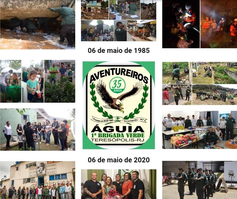 PADRÃO ÁGUIAS COMPLETA 35 ANOS DE FUNDAÇÃO