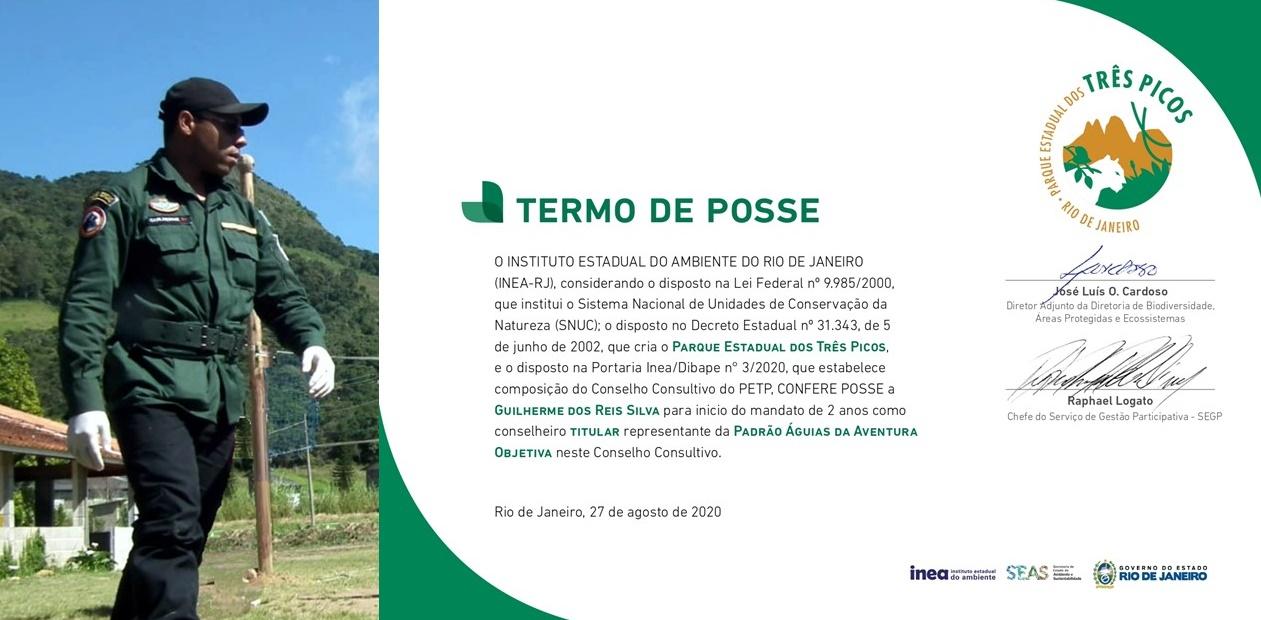 PADRÃO ÁGUIAS TOMA POSSE NO CONSELHO CONSULTIVO DO PARQUE ESTADUAL DOS TRÊS PICOS